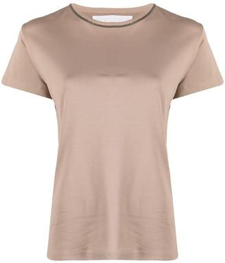 Fabiana Filippi contrast-stitching cotton T-Shirt