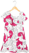 Versace Girls' Printed Flounce Dress w/ Tags