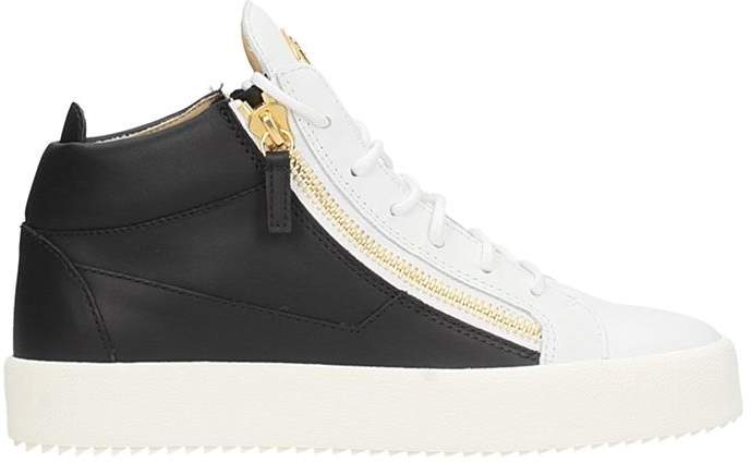 Giuseppe Zanotti Kriss White-black Leather Sneakers