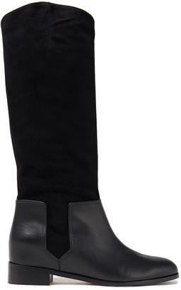 Aquazzura Duke Leather And Suede Boots