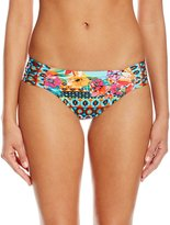 LaBlanca La Blanca Women's Garden Mosaic Shirred Side Hipster Bikini Bottom