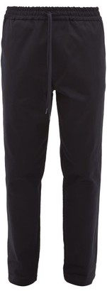 Barena Cosma Elasticated-waist Cotton-twill Trousers - Navy