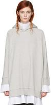 MM6 MAISON MARGIELA Grey Layered Hoodie Dress