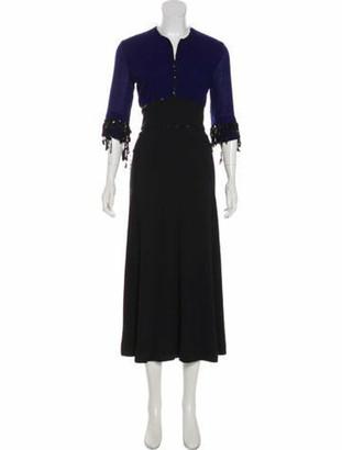 Isa Arfen Sequined Wool Dress Black