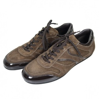Prada Brown Suede Trainers