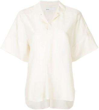 08sircus Spread-Collar Short-Sleeve Blouse