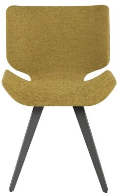 Everly Quinn Robichaux Upholstered Dining Chair Upholstery Color: Yellow