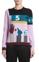 Valentino Garavani Women's Valentino Counting Number 6 Intarsia Wool & Cashmere Sweater