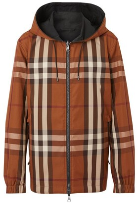 Burberry Reversible Check Hooded Jacket