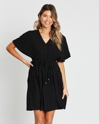 Atmos & Here Pia Pleated Mini Dress