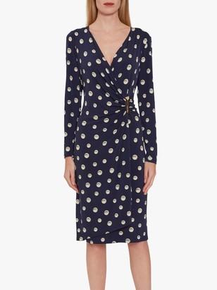 Gina Bacconi Pearla Jersey Wrap Dress, Navy