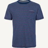 Fat Face Indigo Retro Crew Neck T-Shirt