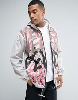 Hero's Heroine Heros Heroine Lightweight Jacket In Graffiti Print