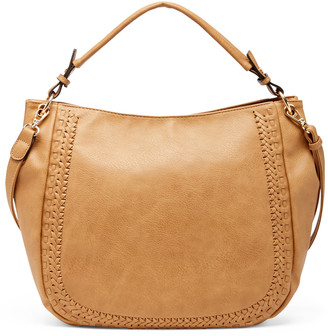 Sole Society Women's Anora Hobo Vegan Bag Leather Camel Vegan Leather From