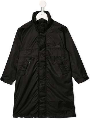Denim Dungaree padded long jacket