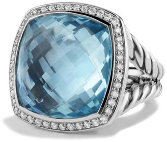 David Yurman Albion Ring with Diamonds in Sterling Silver