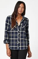 La Hearts Plaid Flannel Button-Down Shirt
