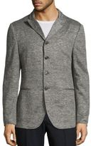 John Varvatos Slim-Fit Heathered Sweater Jacket