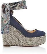 Christian Louboutin Women's Barbariazeppa Denim Platform-Wedge Sandals