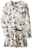 Roberto Cavalli Long Sleeve All Over Print Drop Waist Dress Girl's Dress