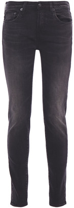 R 13 Faded Mid-rise Skinny Jeans