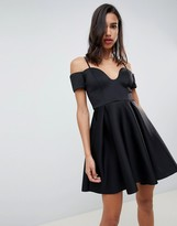 Asos Design DESIGN u bar mini skater dress