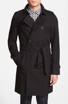 Burberry Men's 'Wiltshire' Trim Fit Double Breasted Trench Coat