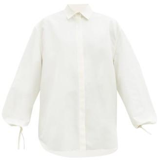 Jil Sander Balloon-sleeve Cotton-blend Shirt - White