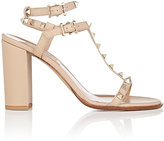 Valentino Garavani Women's Rockstud Leather Double-Strap Sandals