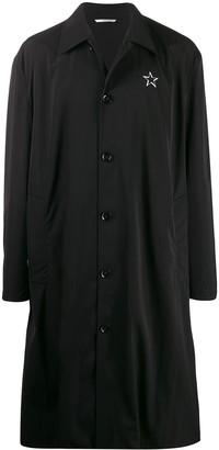 Valentino Logo Print Mid-Length Coat