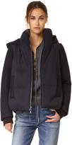 DKNY Pure Mixed Media Coat