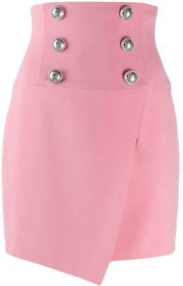 Balmain Button-Embellished Skirt