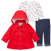 Little Me Baby Girl's 3-Piece Jacket, Top & Jean Set