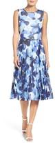 Maggy London Women's Watercolor Chiffon Dress