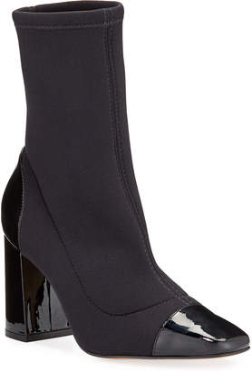 Minna Carrano Stretch Patent Leather Booties