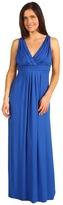 Karen Kane Pleated Maxi Dress (True Blue) - Apparel