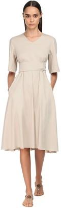 Max Mara 'S Stretch Cotton Blend Dress W/ Belt
