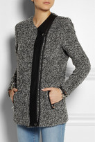IRO Derby leather-trimmed bouclé jacket