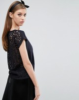 Jack Wills Boxy Lace Back Top