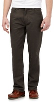 Maine New England Big And Tall Dark Green Straight Fit Trousers