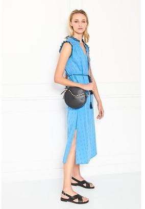 MKT Studio MKTSTUDIO - Blue Cotton Ricita Broderie Anglaise Dress - 42