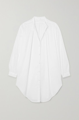 Skin Brea Oversized Cotton-voile Kaftan - White