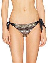 Fat Face Women's Textured Stripe Tie Side Bikini Bottoms