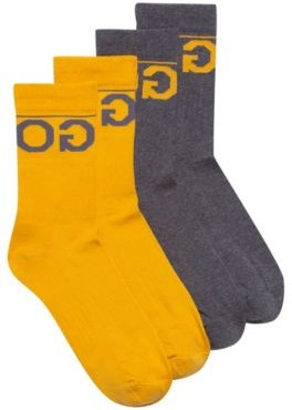 HUGO BOSS Two-pack of knitted ankle socks with reverse logo