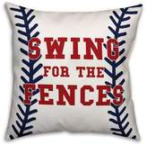 """Designs Direct """"Swing for the Fences"""" Baseball Throw Pillow"""