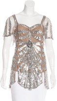 Temperley London Sequined Mesh Top