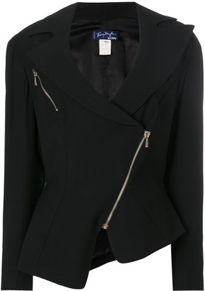 Thierry Mugler Pre-Owned Wide Lapels Biker Jacket