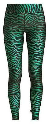 Terez Women's Zebra-Print Tall Band Leggings