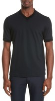 Emporio Armani Men's Armani Collezioni Ribbed V-Neck T-Shirt