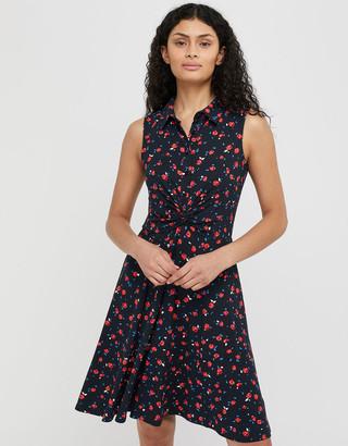 Under Armour Betsy Rose Print Jersey Shirt Dress Blue
